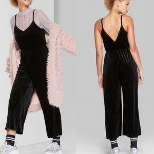 Wild Fable Black Velvet Jumpsuit